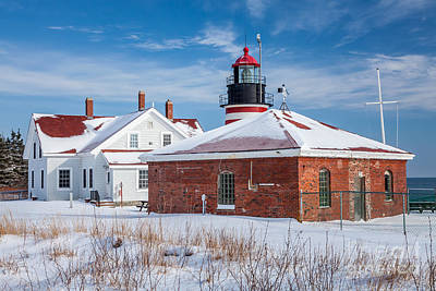 Photograph - Winter Day At West Quoddy Head Light by Susan Cole Kelly