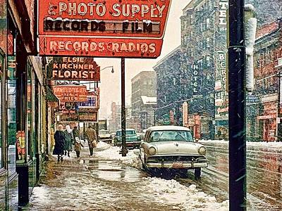 Photograph - Winter Day On Euclid Avenue by Ludwig Keck