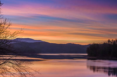 Winter Daybreak At Ocoee Lake Art Print by Paul Herrmann