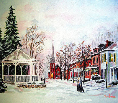Winter Days Of Old Art Print by Zelma Hensel