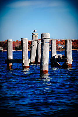 Abstract Graphics - Winter Dock by Greg Fortier