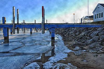 Michigan Port Sanilac Photograph - Winter Docks by Ginger Harris