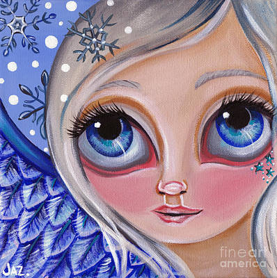 Pop Surrealism Painting - Winter Dreaming by Jaz Higgins