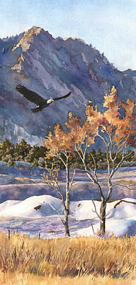Winter Scenes Painting - Winter Drift by Anne Gifford