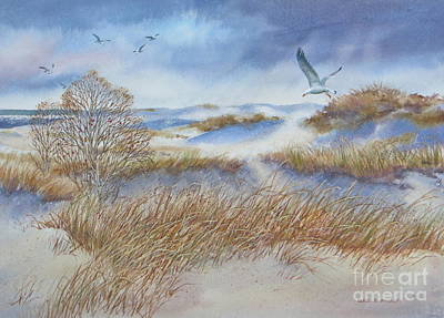 Painting - Winter Dune by Karol Wyckoff