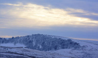 Winter Dusk Near Buxton Art Print by David Birchall