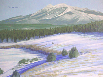 Painting - Winter Eagle At Mormon Lake by Cheryl Fecht