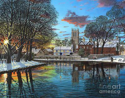 Reflections Digital Art - Winter Evening by Richard Harpum