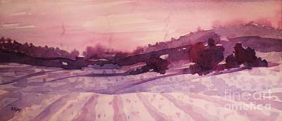 Painting - Winter Evening by Suzanne McKay