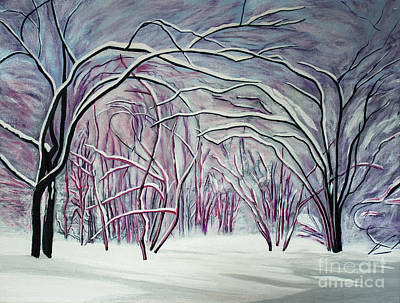 Painting - Winter Fairies by Barbara McMahon