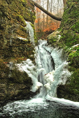 Photograph - Winter Falls by Karol Livote