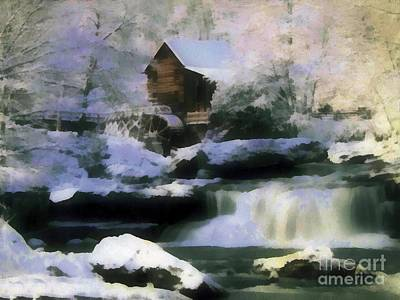 Photograph - Winter Falls by Scott B Bennett