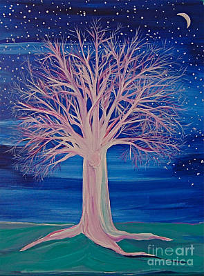Winter Fantasy Tree Art Print
