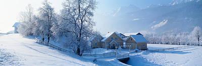 Winter Farm Austria Art Print