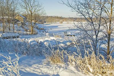 Photograph - Winter Farm 1 by Jessie Parker