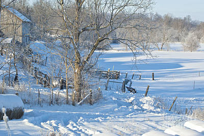 Photograph - Winter Farm IIi by Jessie Parker