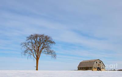 Photograph - Winter Farm Landscape by Cheryl Baxter