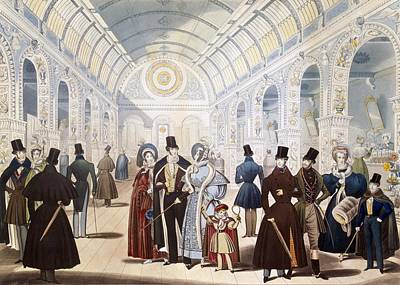 Winter Fashions From Nov. 1834 To April Art Print