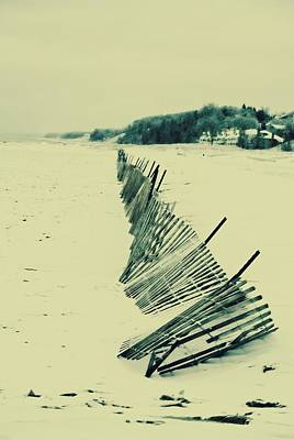 Winter Fence Art Print