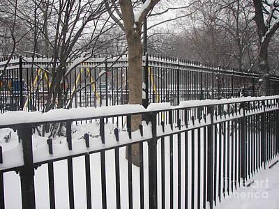 Winter Fences Art Print