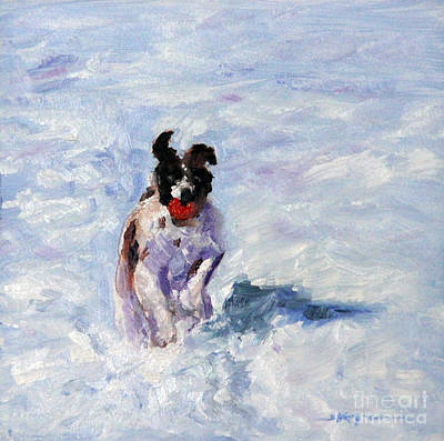Painting - Winter Fetching by Shelley Koopmann