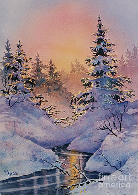 Painting - Winter Filigree by Teresa Ascone