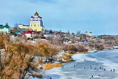 Digital Art - Winter Fishing In Russia by Yury Malkov