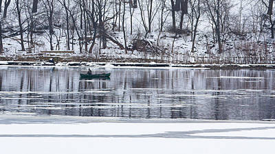 Photograph - Winter Fishing - Wisconsin River by Steven Ralser