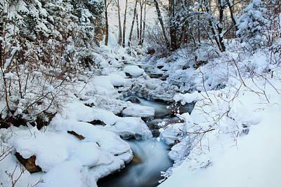 Photograph - Winter Flow by Darryl Wilkinson