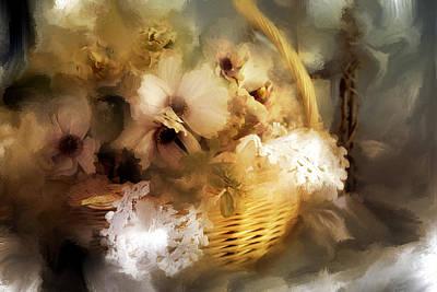 Winter Flowers Art Print by Evie Carrier