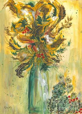 Painting - Winter Flowers by Veronica Rickard