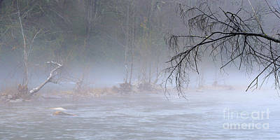 Williams River Scenic Backway Photograph - Winter Fog Williams River by Thomas R Fletcher