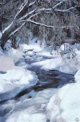 Snowscape Digital Art - Winter Forest by Gun Legler
