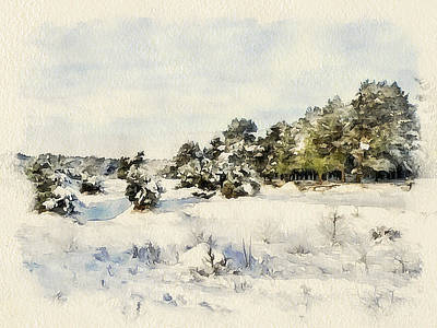Excellent Christmas Gifts Digital Art - Winter Forest Landscape 17 by Yury Malkov
