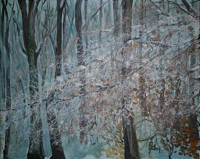 Painting - Winter Forest by Lee Stockwell