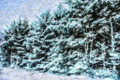 Digital Art - Winter Forest by Liz Leyden