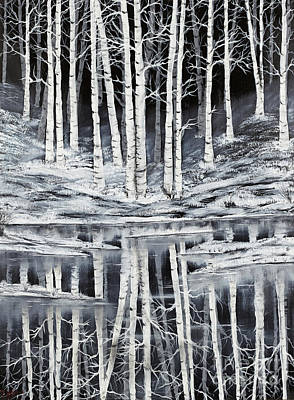 Winter Forest Art Print by Premierlight Images