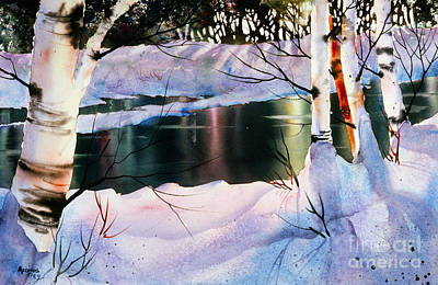 Painting - Winter Forest Reflections by Teresa Ascone