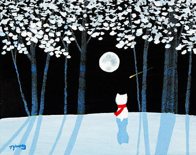 Winter Forest Art Print by Todd Young