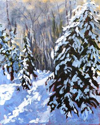 Winter Forest Walk Art Print