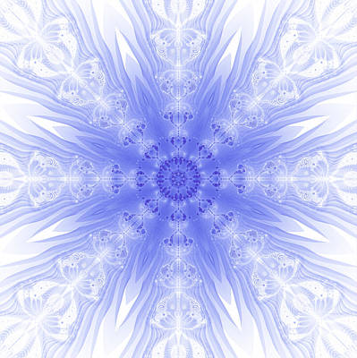 Digital Art - Winter Fractal by Fran Riley
