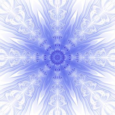 Digital Art - Winter Fractal by Fran Riley