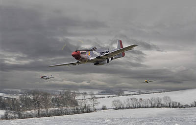 Air Force Digital Art - Winter Freedom by Pat Speirs