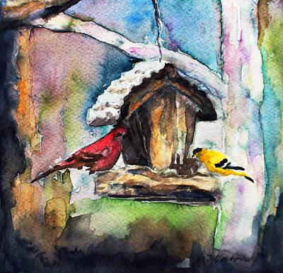 Winter Bird Friends Original
