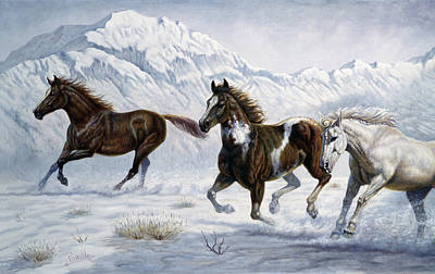 Wild Horse Digital Art - Winter Frolic by Gregory Perillo