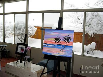 Photograph - Winter From My Studio by Phyllis Kaltenbach