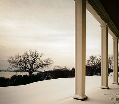 Winter From The Porch Of Mount Vernon Art Print by Mountain Dreams