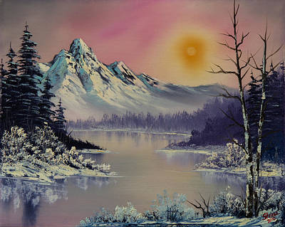 Bob-ross-style Painting - Morning Frost by C Steele