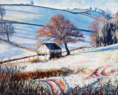 Shed Painting - Winter Frost by Tilly Willis