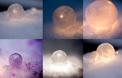 Photograph - Winter Fun Bubbles by Fran Riley